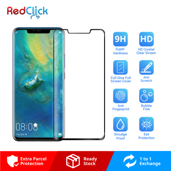 Huawei Mate 20 Pro Full Glue Full Cover 9H Tempered Glass