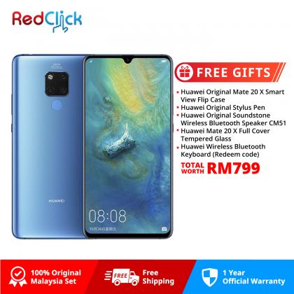 Huawei Mate 20 X (6GB/128GB) Original Huawei Malaysia Set + 5 Free Gift Worth RM799