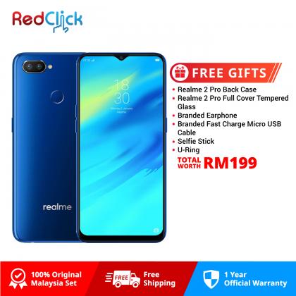 Realme 2 Pro (8GB/128GB) Original OPPO Malaysia Set + 6 Free Gift Worth RM199