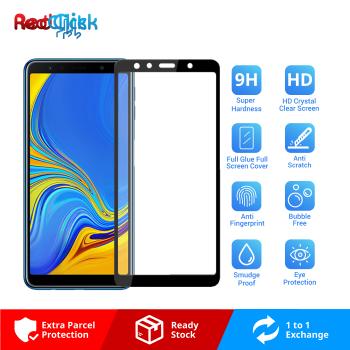 Samsung Galaxy A7 2018 Full Glue Full Cover 9H Tempered Glass