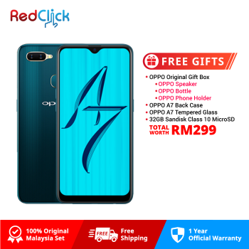 OPPO A7 (4GB/64GB) Original OPPO Malaysia Set + 4 Free Gift Worth RM299