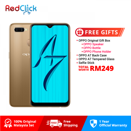 OPPO A7 (4GB/64GB) Original OPPO Malaysia Set + 4 Free Gift Worth RM249