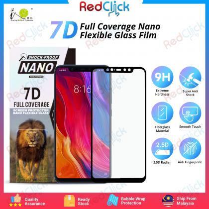 iTOP Xiaomi Mi 8 /Mi 8 Pro 7D Full Coverage Screen Protector Nano Flexible Glass Film - Shock Proof