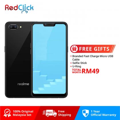 Realme C1 (2GB/16GB) Original OPPO Malaysia Set + 3 Free Gift Worth RM49