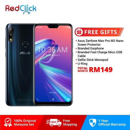 Asus Zenfone Max Pro (M2) /zb631kl (6GB/64GB) Original Asus Malaysia Set + 5 Free Gift Worth RM149