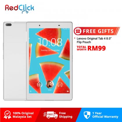 "Lenovo Tab 4 8.0"" /tb8504x (2GB/16GB) Original Malaysia Set + Free Gift Worth RM99"