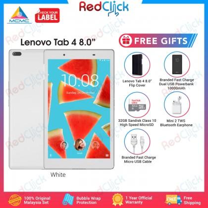 "Lenovo Tab 4 8.0"" /tb8504x (2GB/16GB) Original Malaysia Set + 5 Free Gift Worth RM109"