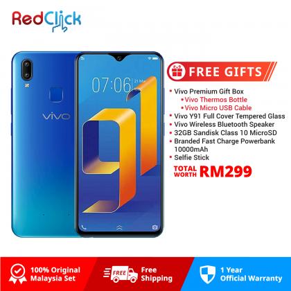 VIVO Y91 (3GB/64GB) Original VIVO Malaysia Set + 4 Free Gift Worth RM299