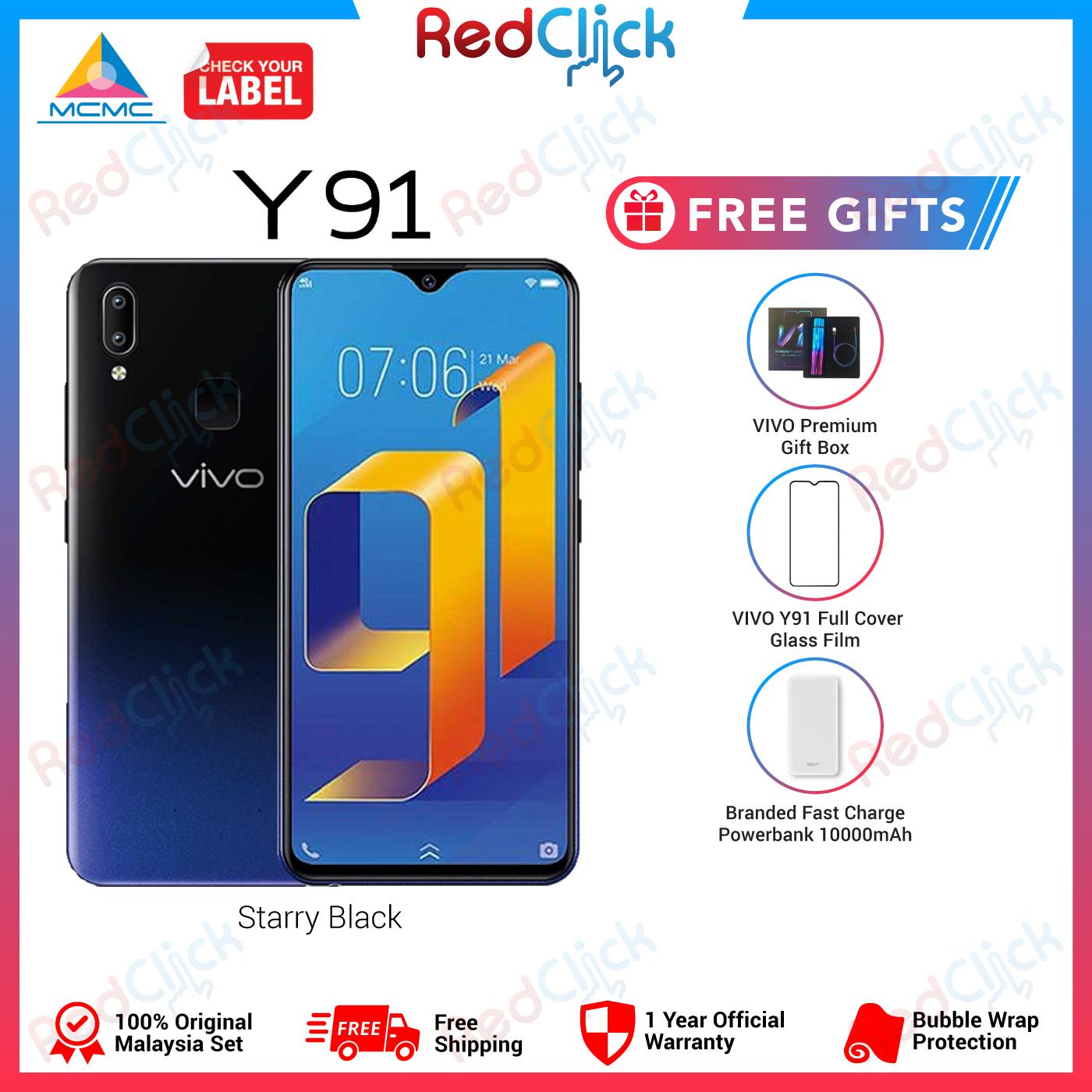 VIVO Y91 (3GB/64GB) Original VIVO Malaysia Set + 3 Free Gift