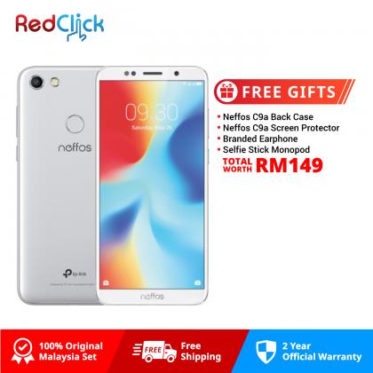 Neffos C9a /tp706a (2GB/16GB) Original Neffos Malaysia Set + 4 Free Gift Worth RM149