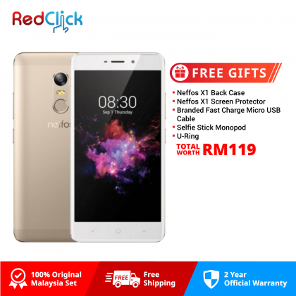 Neffos X1 /tp902a (3GB/32GB) Original Neffos Malaysia Set + 5 Free Gift Worth RM119