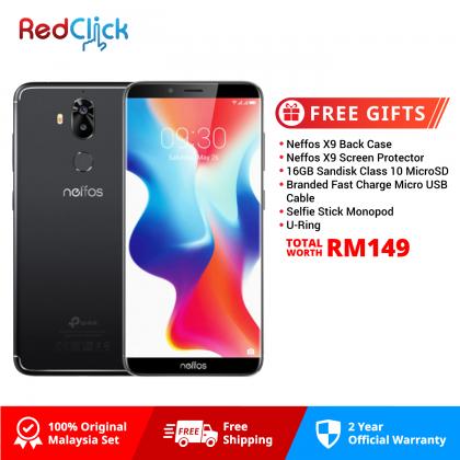 Neffos X9 /tp913a (3GB/32GB) Original Neffos Malaysia Set + 6 Free Gift Worth RM149