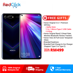 Honor View 20 (6GB/128GB) Original Honor Malaysia Set + 4 Free Gift Worth RM499