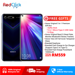 Honor View 20 (6GB/128GB) Original Honor Malaysia Set + 6 Free Gift Worth RM559
