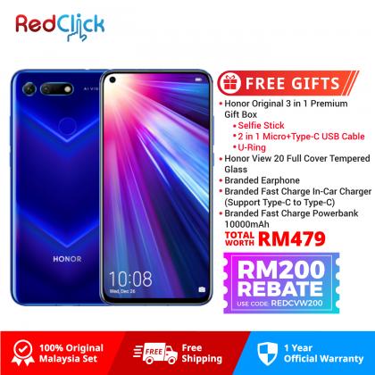 Honor View 20 (6GB/128GB) Original Honor Malaysia Set + 5 Free Gift Worth RM479
