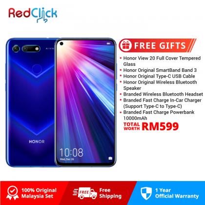Honor View 20 (6GB/128GB) Original Honor Malaysia Set + 5 Free Gift Worth RM479