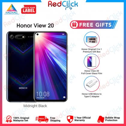 Honor View 20 (6GB/128GB) (8GB/256GB) Original Honor Malaysia Set + 5 Free Gift Worth RM399