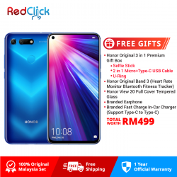 Honor View 20 (8GB/256GB) Original Honor Malaysia Set + 5 Free Gift Worth RM499