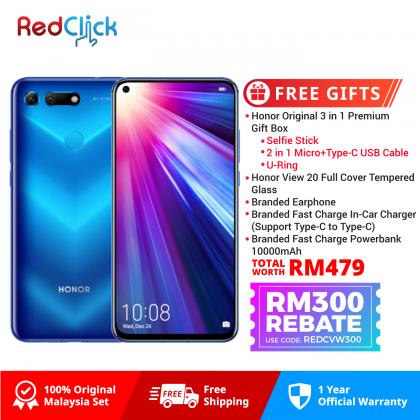 Honor View 20 (8GB/256GB) Original Honor Malaysia Set + 5 Free Gift Worth RM479