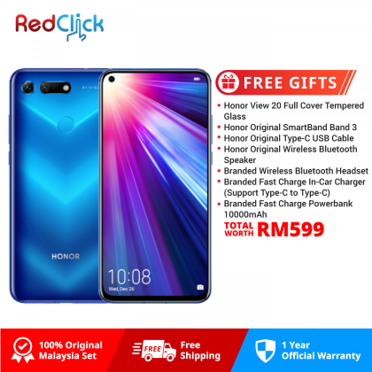 Honor View 20 (8GB/256GB) Original Honor Malaysia Set + 6 Free Gift Worth RM599