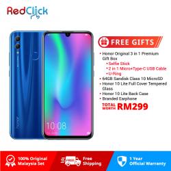 Honor 10 Lite (3GB/64GB) Original Malaysia Set + 5 Free Gift Worth RM 299