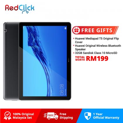Huawei Mediapad T5 (3GB/32GB) Original Huawei Malaysia Set + 3 Free Gift Worth RM199