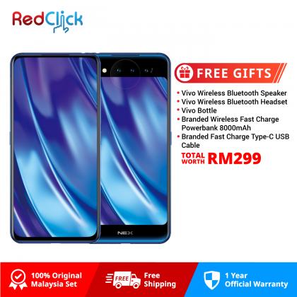 VIVO Nex Dual Display /a1821a (10GB/128GB) Original VIVO Malaysia Set + 5 Free Gift Worth RM299