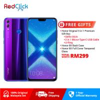 Honor 8X (4GB/128GB) Original Honor Malaysia Set + 3 Free Gift Worth RM299