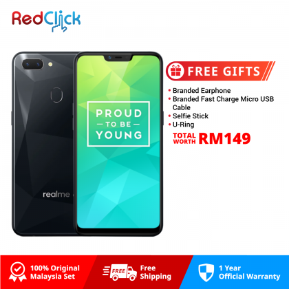 Realme 2 (3GB/32GB) Original OPPO Malaysia Set + 4 Free Gift Worth RM149