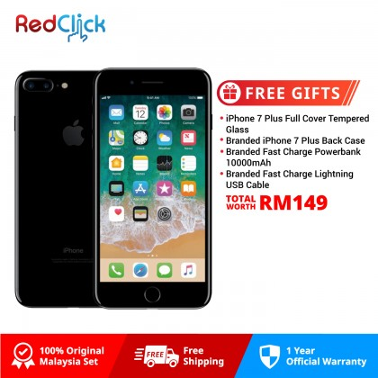 Apple iPhone 7 Plus (32GB) Original Apple Malaysia Set + 4 Free Gifts Worth RM149