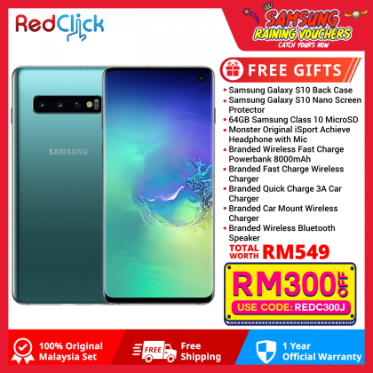 Samsung Galaxy S10/G973 (8GB/128GB) Original Samsung Malaysia Set + 9 Free Gift Worth RM549