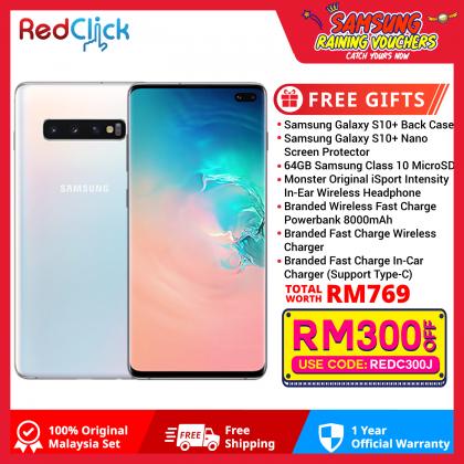 Samsung Galaxy S10 Plus/G975 (8GB/128GB) Original Samsung Malaysia Set + 7 Free Gift Worth RM769