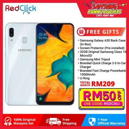 Samsung Galaxy A30 (4GB/64GB) Original Samsung Malaysia Set + 7 Free Gift Worth RM209