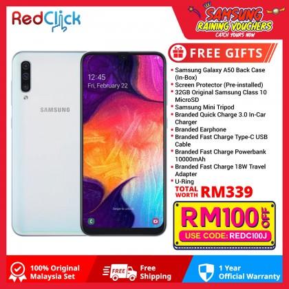 Samsung Galaxy A50 (6GB/128GB) Original Samsung Malaysia Set +10 Free Gift Worth 339