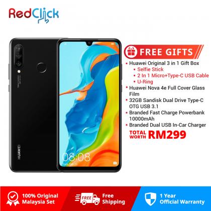 Huawei Nova 4e (6GB/128GB) Original Huawei Malaysia Set + 5 Free Gift Worth RM299