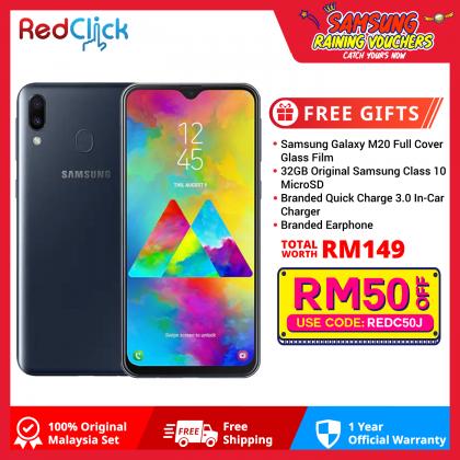 Samsung Galaxy M20 (4GB/64GB) Original Samsung Malaysia Set + 4 Free Gift Worth 149
