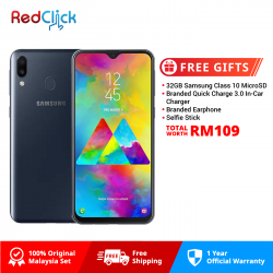 Samsung Galaxy M20 (4GB/64GB) Original Samsung Malaysia Set + 4 Free Gift Worth 109