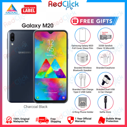 Samsung Galaxy M20 (4GB/64GB) Original Samsung Malaysia Set + 6 Free Gift Worth 199