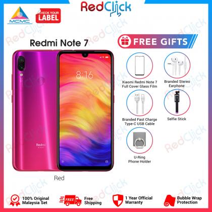Xiaomi Redmi Note 7 (4GB/64GB) Original Xiaomi Malaysia Set + 5 Free Gift Worth RM99
