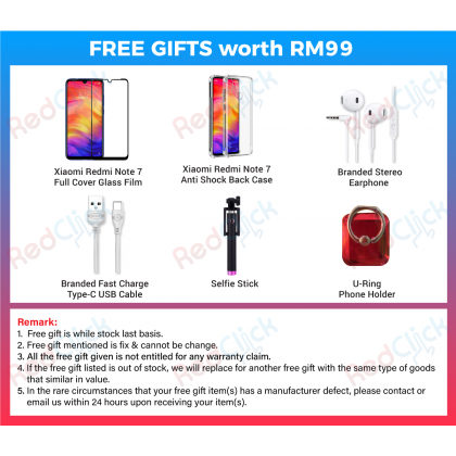 Xiaomi Redmi Note 7 (3GB/32GB)(4GB/128GB) Original Xiaomi Malaysia Set + 7 Free Gift Worth RM139