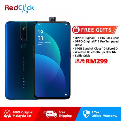 OPPO F11 Pro /cph1969 (6GB/64GB) Original OPPO Malaysia Set + 5 Free Gift Worth RM299