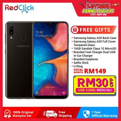 Samsung Galaxy A20 (3GB/32GB) Original Samsung Malaysia Set + 7 Free Gift Worth RM149