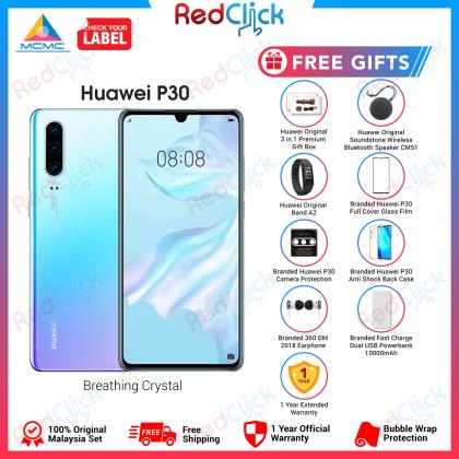 Huawei P30 (8GB/128GB) Original Huawei Malaysia Set + 8 Free Gift Worth RM499
