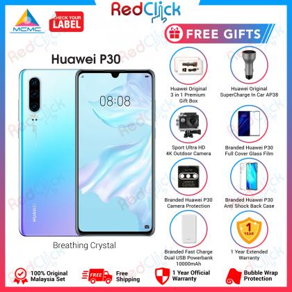 Huawei P30 (8GB/128GB) Original Huawei Malaysia Set + 7 Free Gift Worth RM399