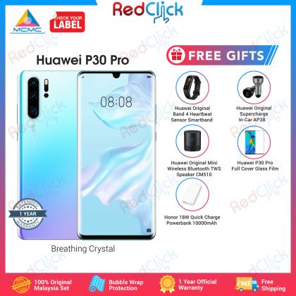 Huawei P30 Pro (8GB/256GB) Original Huawei Malaysia Set + 5 Free Gift Worth RM359