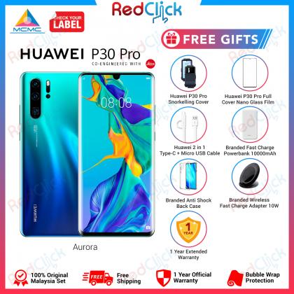 Huawei P30 Pro (8GB/256GB) Original Huawei Malaysia Set + 9 Free Gift Worth RM899