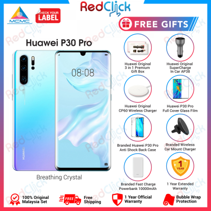 Huawei P30 Pro (8GB/256GB) Original Huawei Malaysia Set + 7 Free Gift Worth RM499