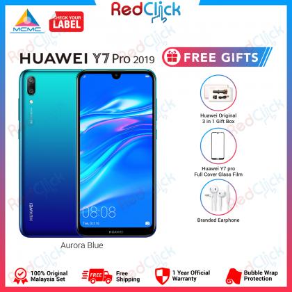 Huawei Y7 Pro 2019 (3GB/32GB) Original Huawei Malaysia Set + 4 Free Gift Worth RM109