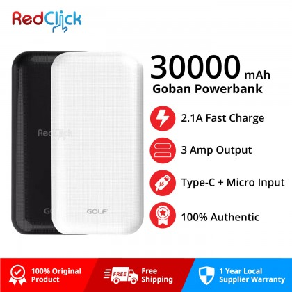 Golf Original G55 30000mAh Fast Charging Triple Output Powerbank