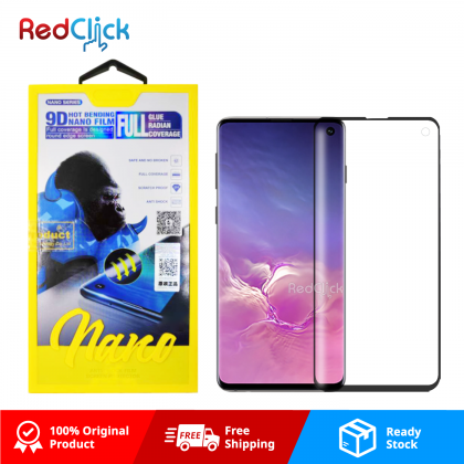 Atouchbo Samsung Galaxy S10 9D Full Glue Full Coverage Curved Screen Protector Nano Flexible Glass Film - Shock Proof